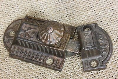 Cabinet catch Cupboard Latch copper rustic old cast iron vintage 3 x 1 3/8""