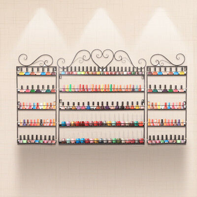 3PCS Nail Polish Rack Wall Mounted Makeup Organizer 5 Layers Nail Polish White