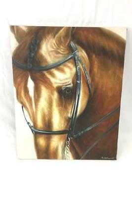 Signed Original Oil Painting PIERCING HORSE EYE by Rose M. Sullivan 2005
