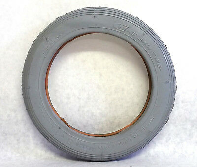 New Cheng Shin Wheelchair Tubed Tire C-179-7 Grey 8x1¼, Scooter Ribbed Tread