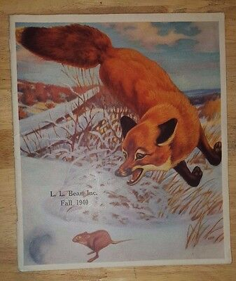 Vintage L.L. Bean CATALOG - Fall, 1940 Hunting Fishing Clothes Boots EXCELLENT