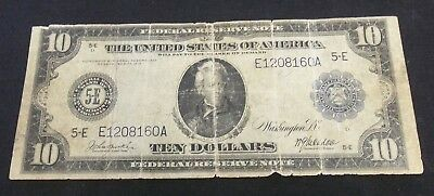 1914 $10 Federal Reserve Note Blue Seal     (4761)