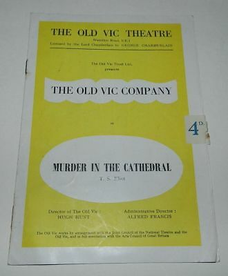 The Old Vic Company Programme 1953 - Murder In The Cathedral - Scarce