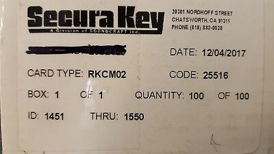 Securakey RKCM-02 (New  26Bit Wiegand Proximity Cards 100 pack..FREE SHIPPING !!