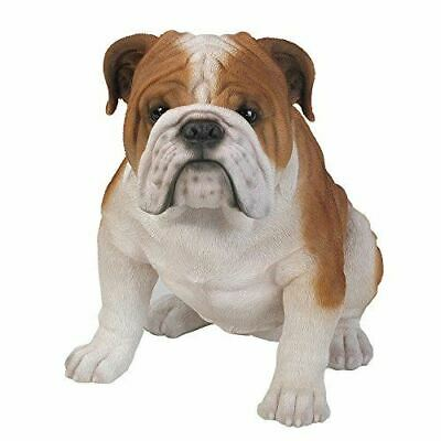 "Large 18"" Long Muscular Friendly Bulldog Dog Figurine Canine Collectible Figure"