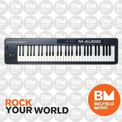 M-Audio Keystation 61 note weighted USB Controller Midi Keyboard - Brand New