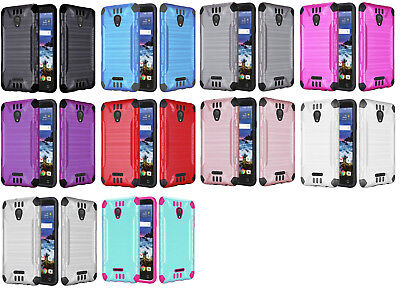 Combat Dual Hybrid Protector Case Phone Cover for Alcatel Raven LTE A574BL