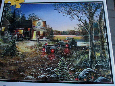 """300 Piece Art Puzzle """"Good Old Days""""  Large Format 18""""x 24"""" Complete"""