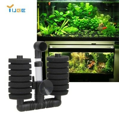 Aquarium Fish Filter Tank Air Pump Skimmer Aquarium Biochemical Sponge Filter