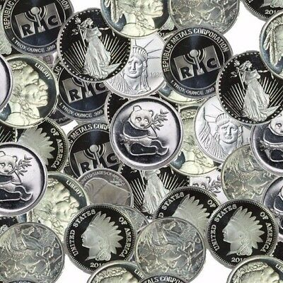 Ten Generic 1oz .999 Silver Rounds of our choice (gsr)
