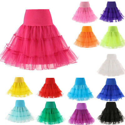 Kids Girls Vintage Underskirt Swing Petticoat/Rockabilly Tutu Net Skirt Goodish