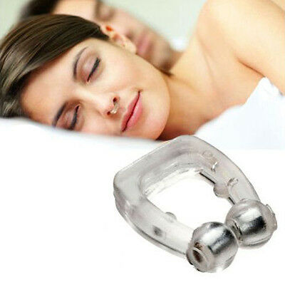 Anti Snore Nose clip Stop Snoring Sleep Aid Snore Free Night Easy Breathe UKLQ