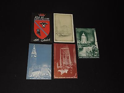 Vintage Postcard Lot CLEVELAND OHIO Hotel Rib Room & More (*16)