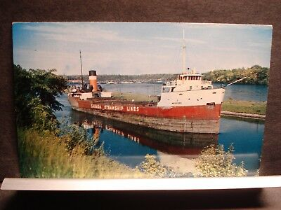 Ship MEAFORD, CANADA STEAMSHIP LINES Naval Cover CSL Canal unused postcard