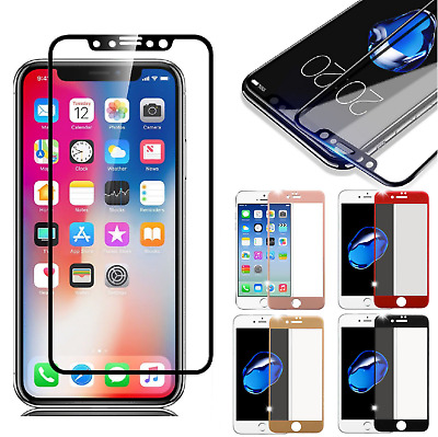3D Full Coverage Tempered Glass Screen Protector for Apple iPhone X/8/7 Plus