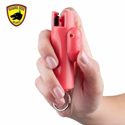 Guard Dog Security Accufire Keychain Pepper Spray with Laser Sight PINK