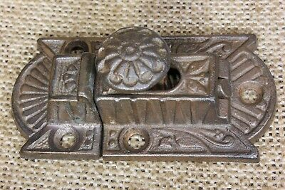 "Cabinet catch jelly Cupboard Latch rustic copper cast iron old 2 3/4"" vintage"