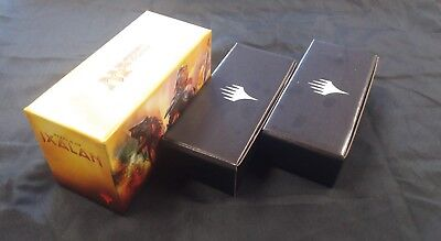 MTG Empty Magic Storage Box Rivals of Ixalan & 2 x Planeswalker Black boxes