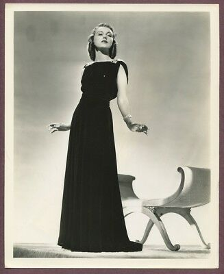 FAY WRAY Glamorous Elegant Gown Park Ave Dame 1937 A.L SCHAFER Photo Chais J765