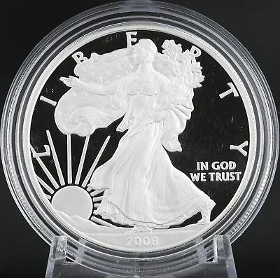 2008 American Silver Eagle Proof Coin 1oz 999 Fine West Point Dollar ASE COA Box