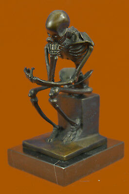 CLEARANCE SALE Abstract  Mini Skeleton by Milo Bronze Sculpture Marble Statue