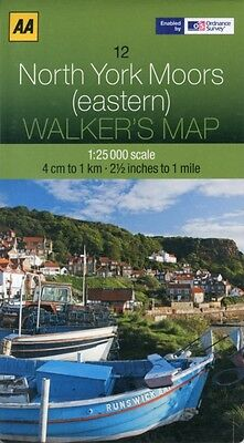 Walkers Map North York Moors (eastern) (Map), AA Publishing, 9780...