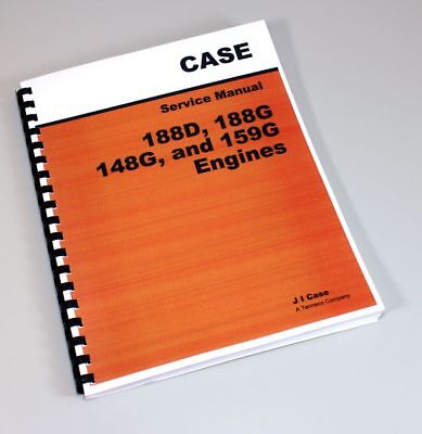 case 430ck 310 tractor 148g engine service repair shop manual