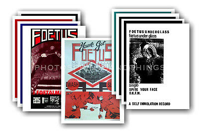 FOETUS - 10 promotional posters  collectable postcard set # 1