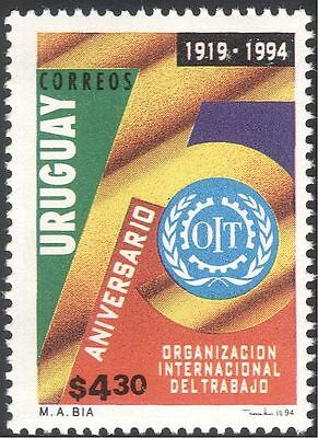 Uruguay 1994 ILO 75th Anniversary/Labour/Unions/Workers/Emblem 1v (n22708)