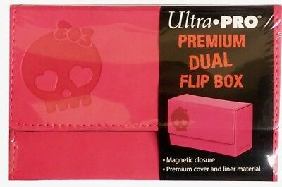 Ultra Pro Dual Flip Box Pink Deckbox - Deck Box rosa für 2 Trading Card Decks