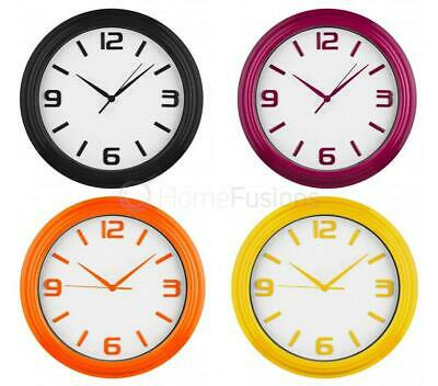 Kitchen Wall Clock Large Digits Analogue Round Plastic Frame Hanging Quartz 41Cm