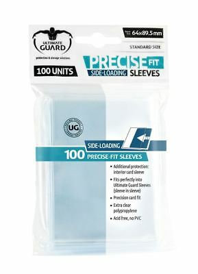 100 Ultimate Guard Precise-Fit Sleeves SIDE-LOADING (64x89,5mm)
