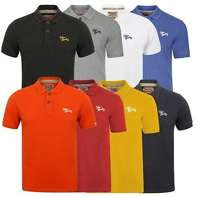 Mens Polo Collection Golf Tops Short Sleeve Sports Top Tokyo Laundry 8 Colours