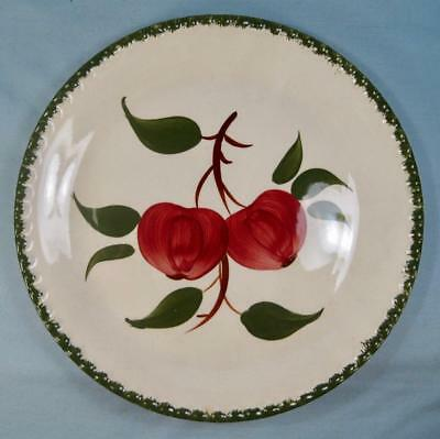 Quaker Apple Luncheon Plate Blue Ridge Southern Pottery Red Green Candlewick (O)
