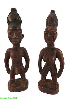 Yoruba PAIR of Ibeji Twin Figures Nigeria African Art