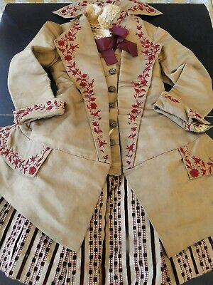 Circa 19Thc. Victorian Child's Dress W/embroidery
