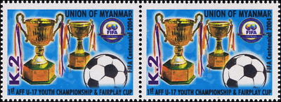 100 years International Football Federation (FIFA) -PAIR- (MNH)