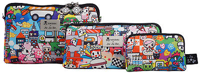 Ju Ju Be Tokidoki X Be Set Sushi Cars 3 Bags Pouch Set Baglet NEW
