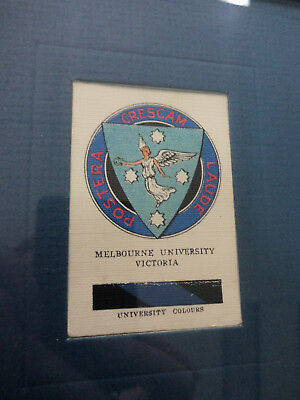 #Yy10.  Framed 1929 Wills  Cigarette Card - Melbourne University Victoria