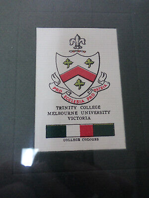 #Yy10.  Framed 1929  Wills Cigarette Card - Trinity College Melbourne, Victoria