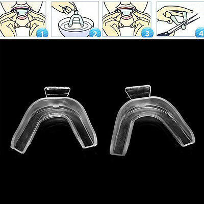 3pcs Thermoform Mouth Teeth Dental Tray Tooth Whitening Moldable Guard Sil UKLQ