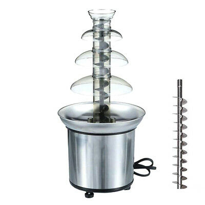 4 Tiers Stainless Steel Hot New Luxury Chocolate Fountain Fondue Commercia UKLQ