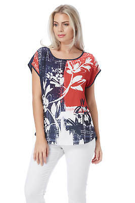 Roman Originals Women's Yellow Abstract Floral Print top Sizes 10-20