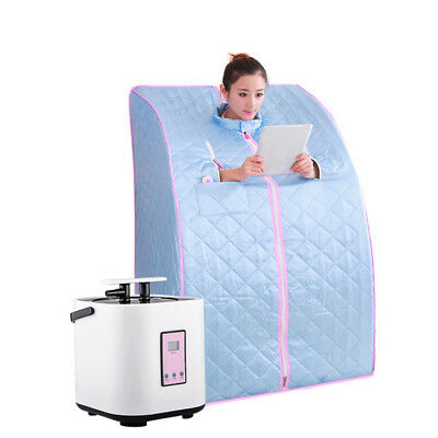Portable Home Steam Sauna Spa Loss Weight Slimming Indoor Bath Pro UKLQ