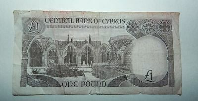 Cyprus One Pound Banknote 1984