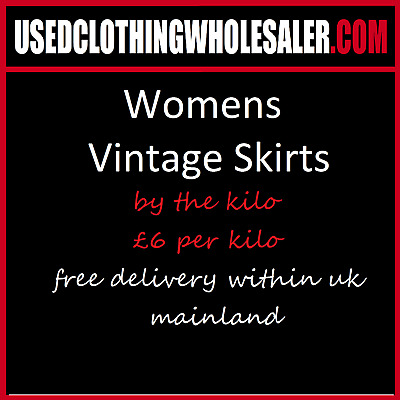 10Kg Of Women's Vintage Skirts Pleated Gypsy Pattern Joblot Wholesale Qty 36