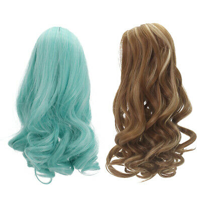 "2pcs Gradient Curly Hairpiece Wig for 18"" American Girl Dolls Hair Making"