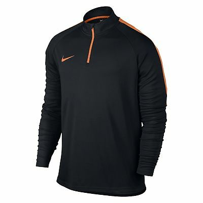 Nike Kinder Fussball Trainings Sweatshirt Dry Drill Top Academy schwarz orange