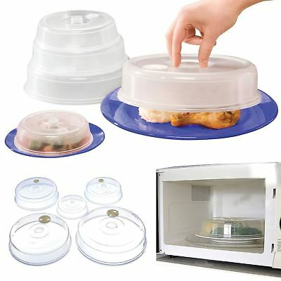 Top Home Solutions Set of 5 Ventilated Microwave Food Plate Covers