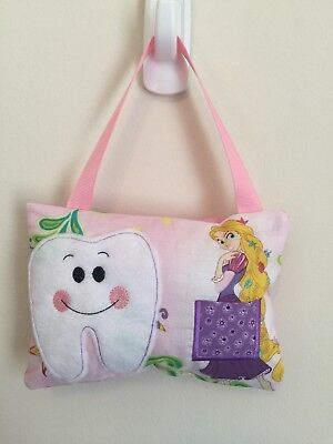New Pink Girls Rapunzel TOOTH FAIRY PILLOW - Bedroom Decor or Gift BBCB Princess